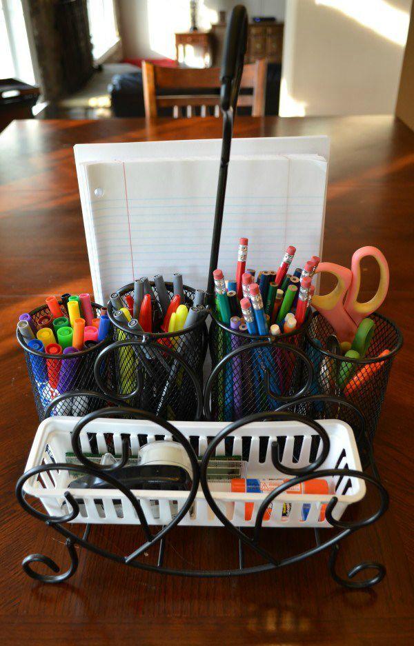 Study Caddy full of school supplies