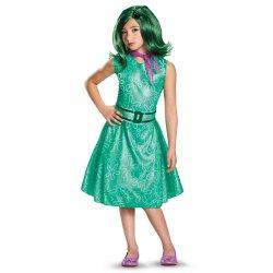 Glittery turquoise dress with green wig