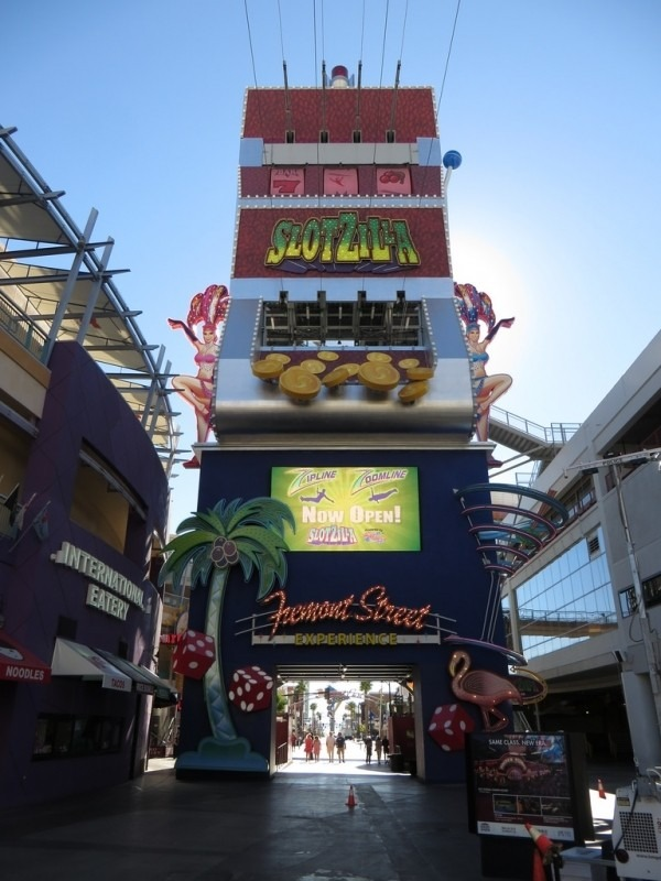 Slotzilla (Beginning of Zip-Line), Las Vegas, Nevada