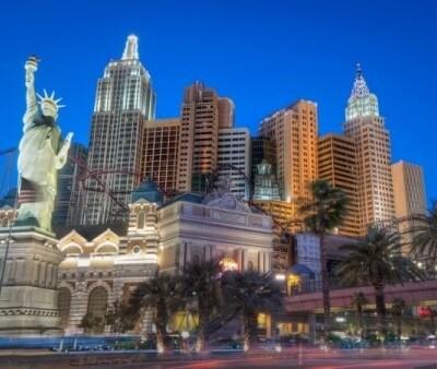 View of the strip in Las Vegas