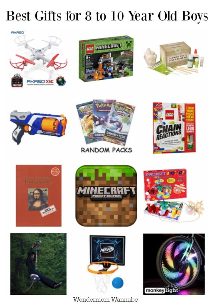 Here's a list of the best gifts for 8 to 10-year old boys. They are fun to shop for because they're full of spunk, creativity,  logic and fine motor skills. #giftguide #giftideas #forboys #boys8to10 via @wondermomwannab