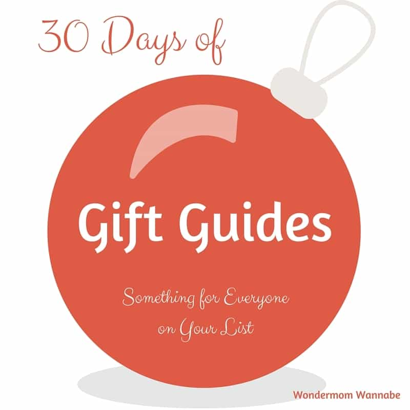 graphic of an ornament on a white background with title text reading 30 Days of Gift Guides