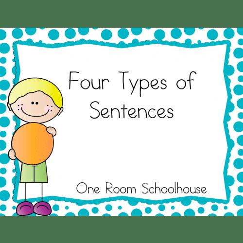Four Types of Sentences Flip Book