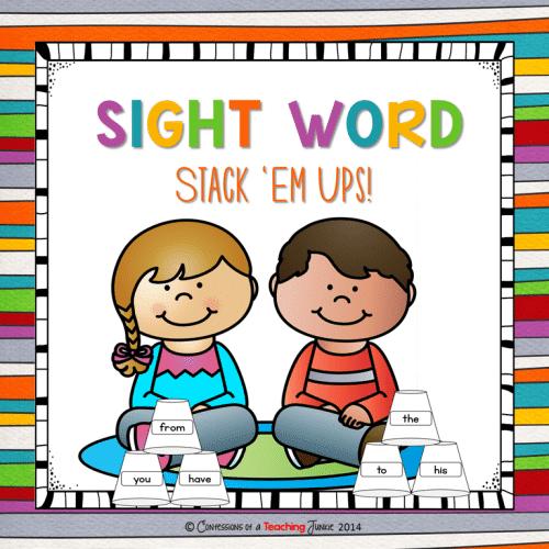 Sight Word Stack Em Ups