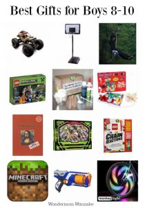 A list of the best gifts for 8 to 10-year old boys