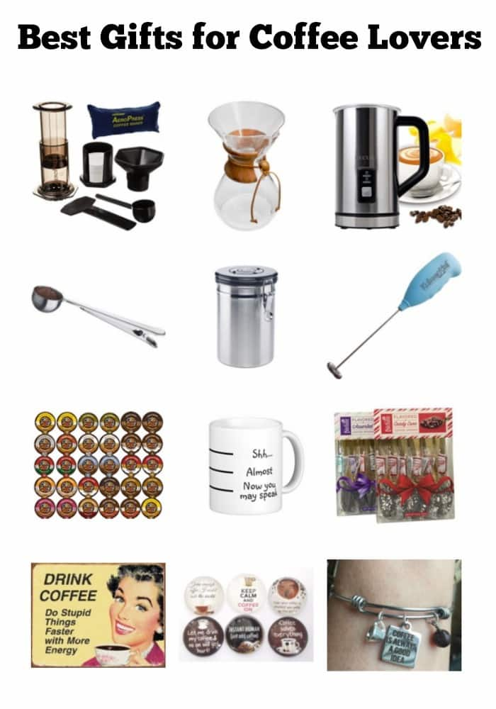 There are over a dozen other ways you can delight coffee lovers other than with a gift card. You can find these ideas in the best gifts for coffee lovers. #giftguide #giftideas #coffeelovers #coffeegifts via @wondermomwannab