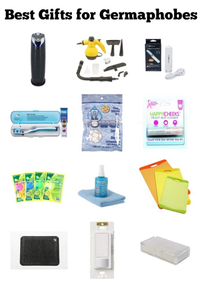Do you have a friend who hates germs? This list of the best gifts for germaphobes has plenty of ideas he or she will love! #germaphobe #giftideas #giftguide via @wondermomwannab