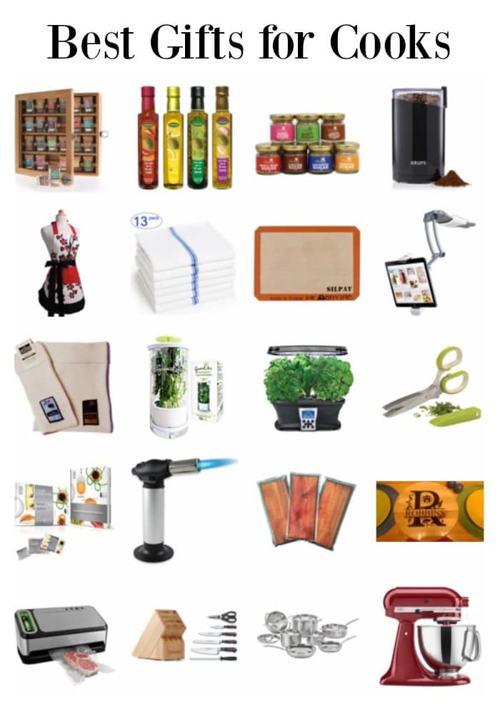 A list of the best gifts for people who love to cook, whether they have just discovered the passion or if they've been cooking for years. #giftguide #giftideas #cooking #cooks via @wondermomwannab
