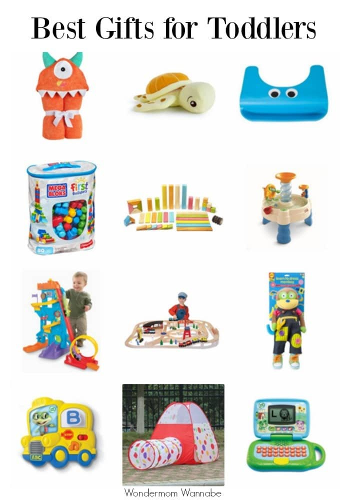 Toddlers are fun to shop for because 2 to 3-year old kids are so full of enthusiasm and wonder. Here's a list of the best gifts for toddlers.  #giftguide #giftideas #toddlers #forkids via @wondermomwannab