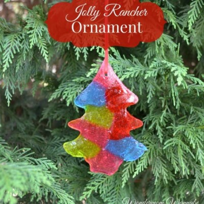 colored Jolly Rancher Ornament