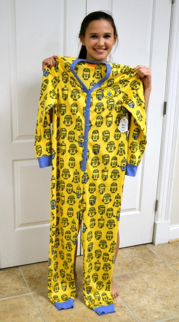 Long Sleeve One Piece Minions Pajamas
