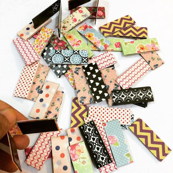 a variety of magnetic bookmarks