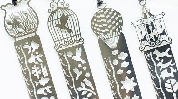 fancy engraved ruler bookmarks