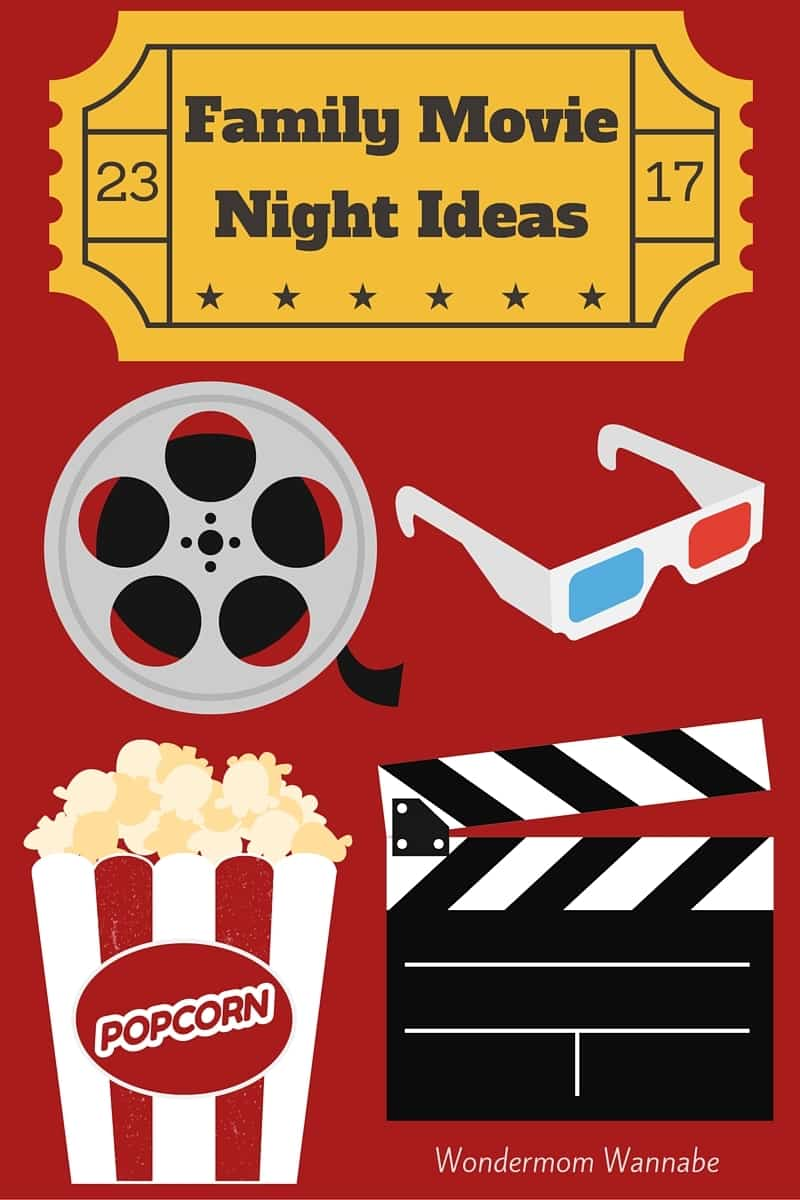 Do you want to spend more quality time with your family, and want to find some inexpensive ideas? Here are some fun family movie night ideas! #familymovienight #familyfun #spendtimetogether #familyfuntime via @wondermomwannab