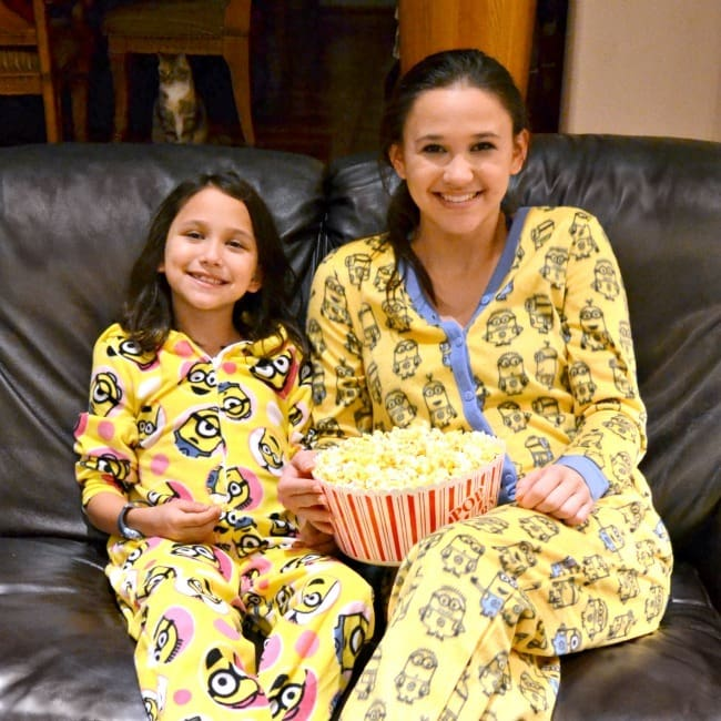 Ready to watch the Minions movie in our Minions pajamas