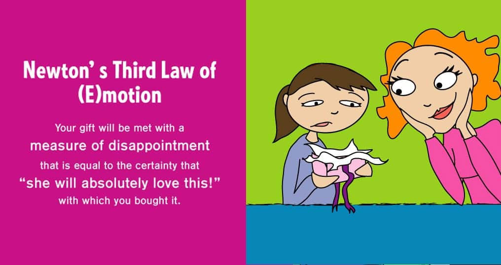 graphic from the book The Science of Parenthood about Newton's Third Law of Emotion