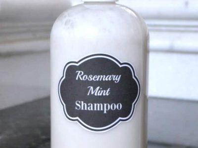 All Natural Rosemary Mint Shampoo