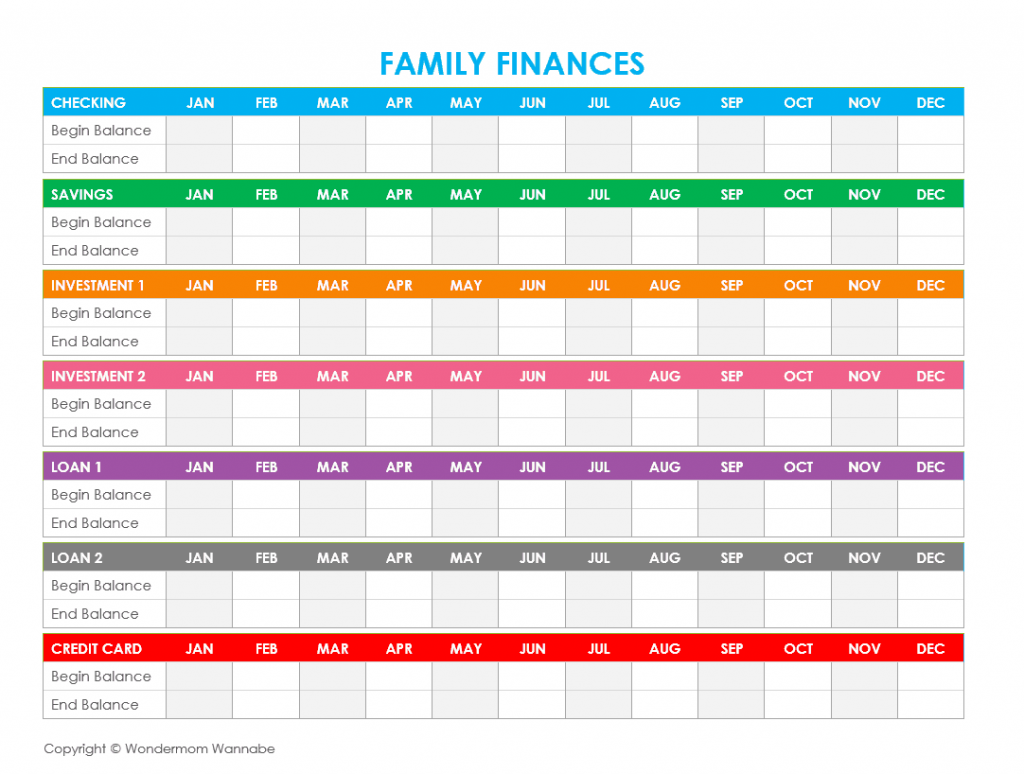 Free Printable Family Budget Worksheets – Budget Worksheet