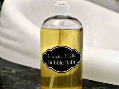 Lavender vanilla homemade bubble bath