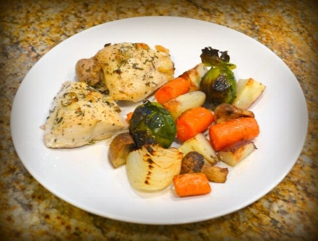 Oven Roasted Chicken and Vegetable Dinner