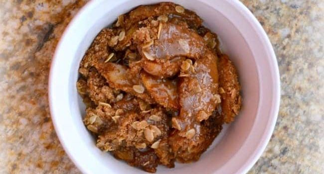 Paleo Apple Crisp and Caramel Sauce
