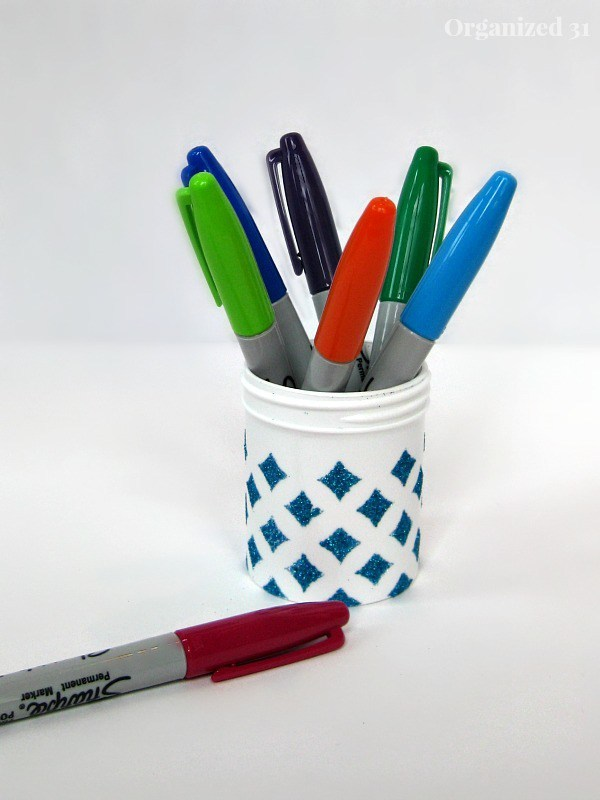 Upcycled Container for Office Supplies