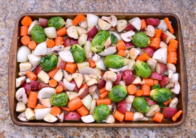 Vegetable Prep in Pan