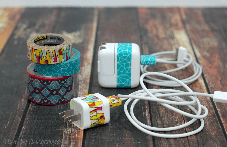 Washi Tape Cord Management