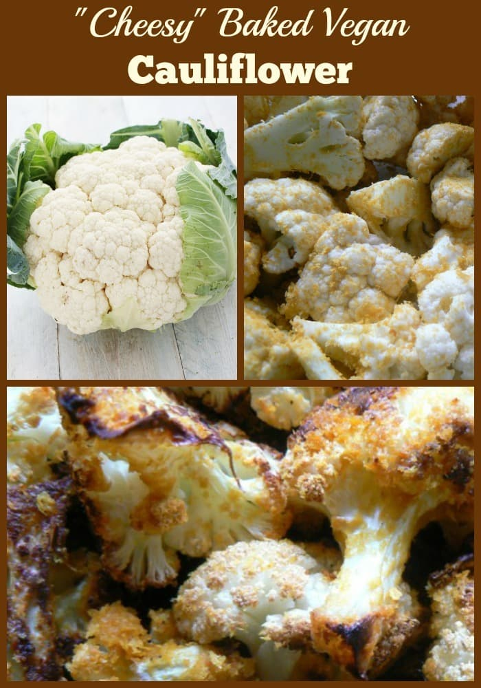 Cheesy Baked Vegan Cauliflower