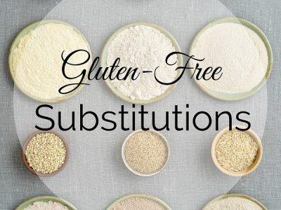 Eating gluten-free doesn't mean sacrificing flavor. Here are several gluten-free substitutions that not only provide plenty of flavor, but plenty of nutrients as well.