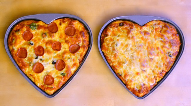 Heart Shaped Pizza for Valentine's Day