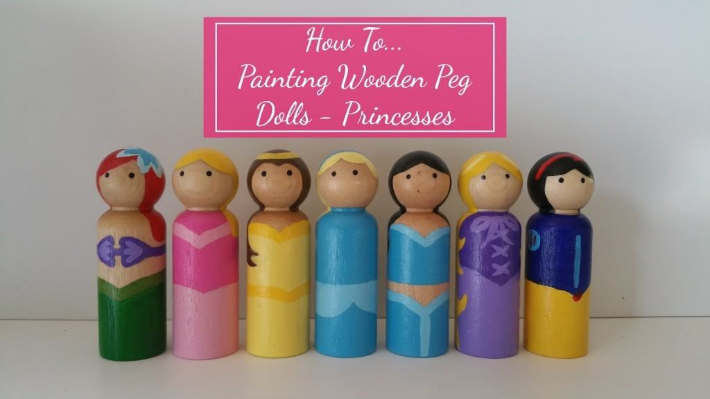Painting Wooden Peg Princesses