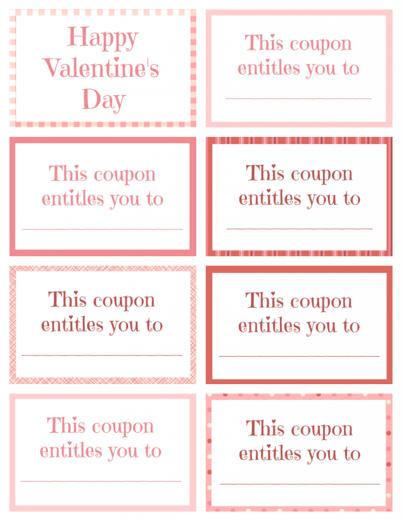 Printable Valentine Coupon Book For Kids