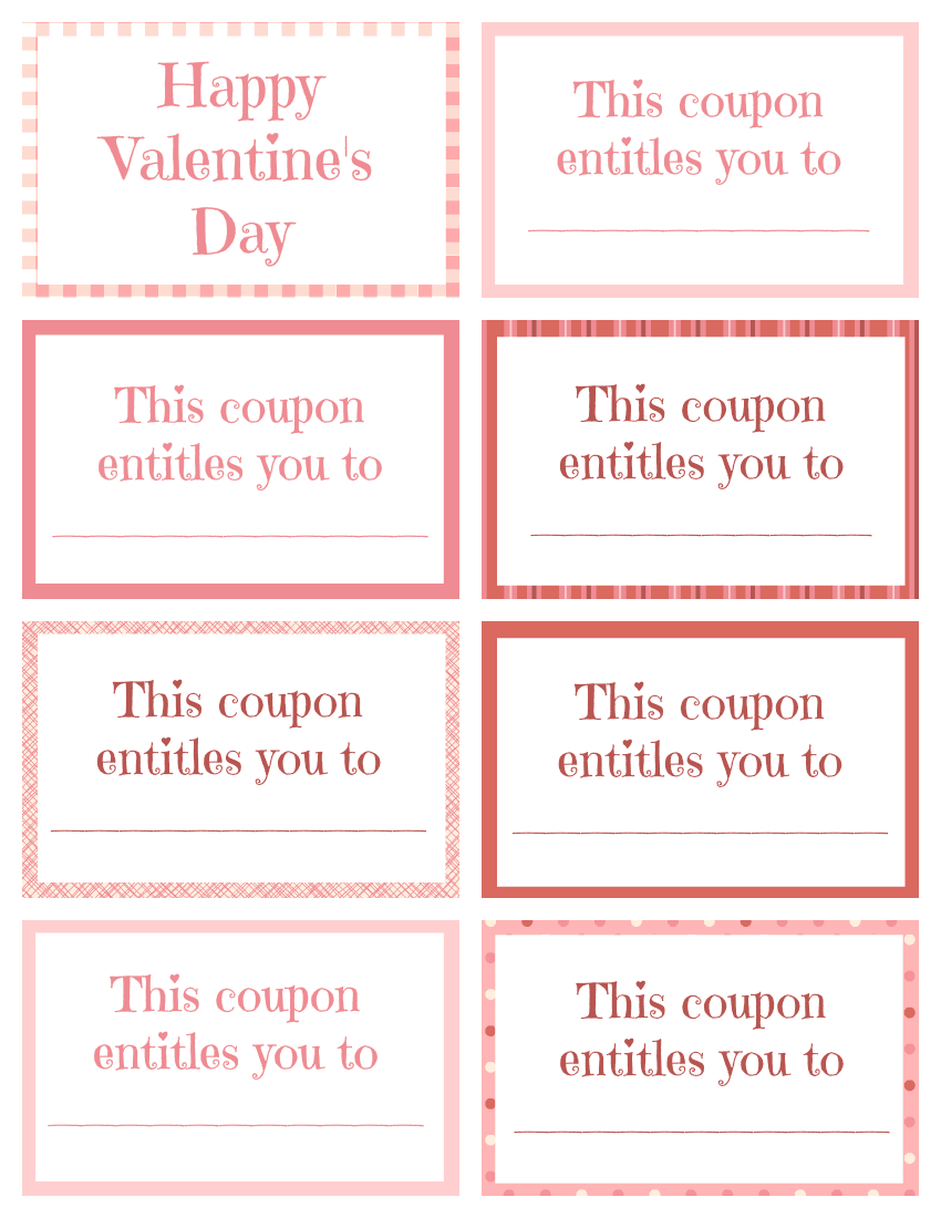 Valentine Coupon Book (Blank)
