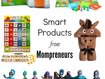 Collage of smart products from mompreneurs