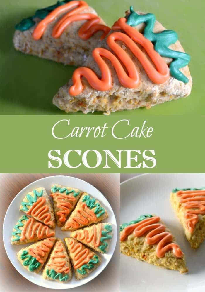 These carrot cake scones are a tasty and easy treat, perfect for Spring and Easter brunches