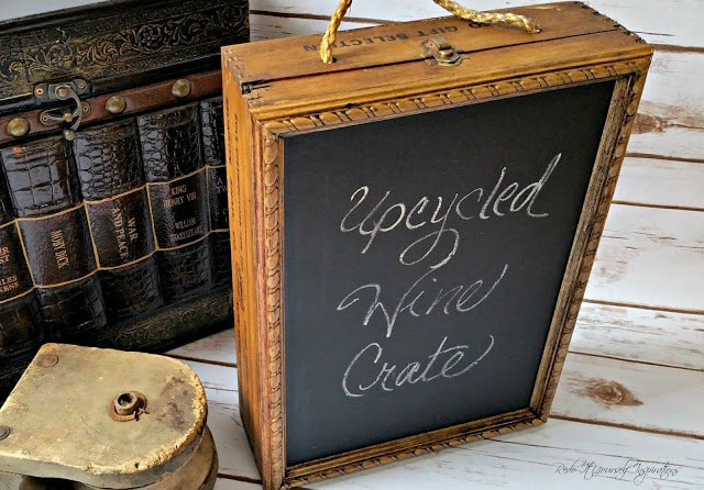 Upcycled Wine Crate Chalkboard