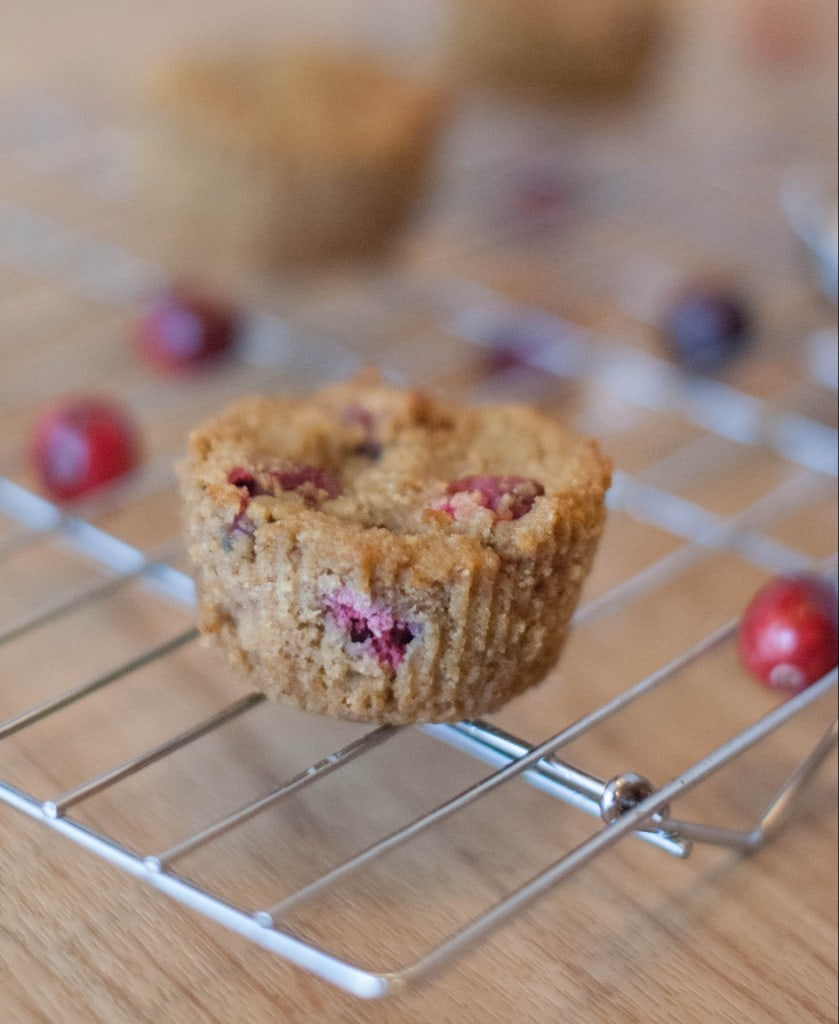 Cranberry-Muffin on a wire rack
