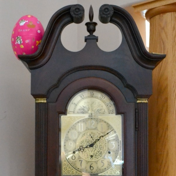 Easter egg on a clock
