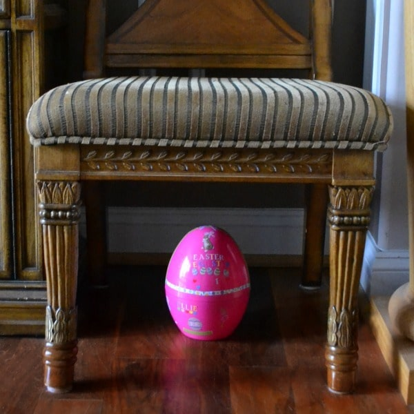 Easter egg under chair