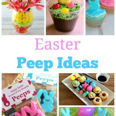 Collage of Easter peep ideas