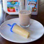 Chocolate milkshake and orange banana creamsicle