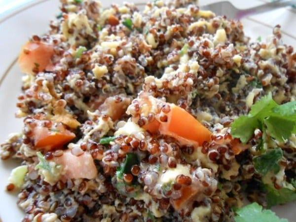 Quinoa Breakfast Scramble on a white plate