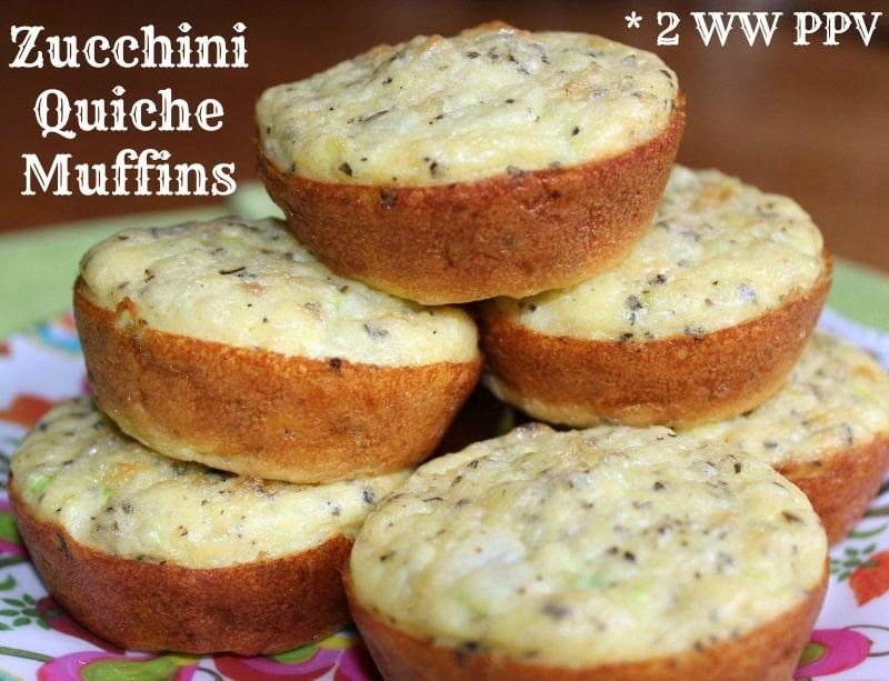 Zucchini Quiche Muffins