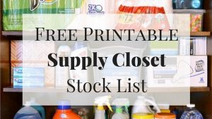 Household Supply Closet Stock List