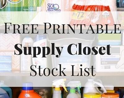 """Free printable household supply closet stock list"""