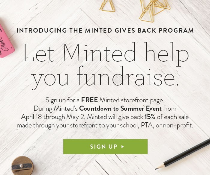 Minted Gives Back