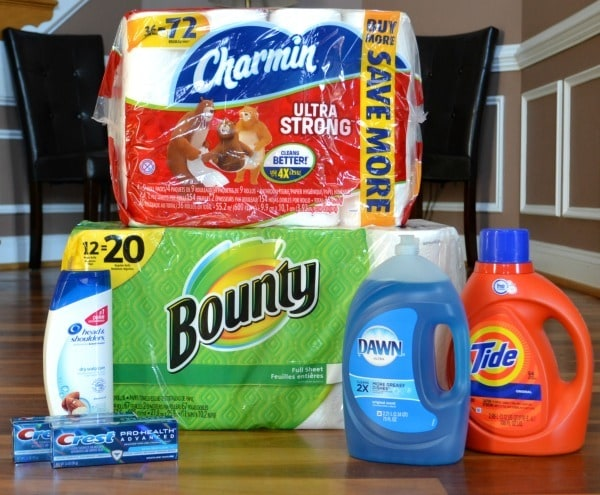Stock up supplies purchased at Walmart
