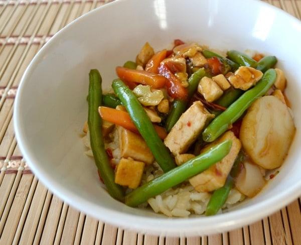 Tofu Teriyaki Bowl for Dinner