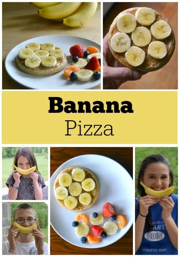 Banana breakfast pizza is an easy and healthy breakfast choice that kids love.